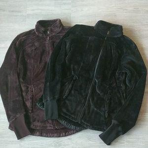 Bundle of Jockey fleece zip front jacket